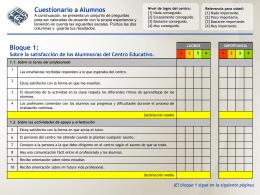 Modelo Cuestionario Alumnos