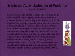 Inicio de Actividades en el Pueblito Sábado 10/09/11
