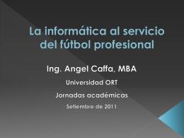 La informática al servicio del fútbol profesional
