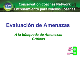 Amenaza Directa - Conservation Coaches Network