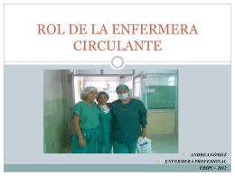 clase rol de la enfermera circulante