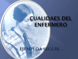 CUALIDADES DE LA ENFERMERA