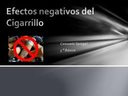 Efectos negativos del Cigarrillo