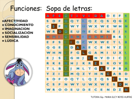 sopa de letras - Virtual Unillanos 2
