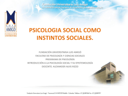 PSICOLOGIA SOCIAL COMO INSTINTOS SOCIALES