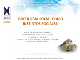 PSICOLOGIA SOCIAL COMO INSTINTOS SOCIALES