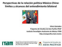 Perspectivas de la relación política México-China - red alc