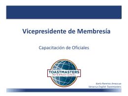 Vicepresidente de Membresía