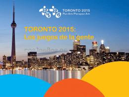 Juegos de la gente - Toronto 2015 Pan Am & Parapan Am Games