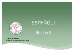 Sesión 8 - CMU Español