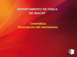 cinemática.