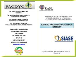 ManualInscripcion - Universidad Autónoma de Nuevo León