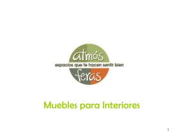 Mesas de interior - Atmósferas Muebles