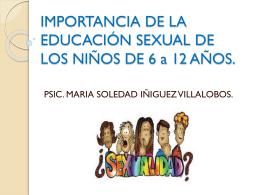 IMPORTANCIA DE LA EDUCACIÓN SEXUAL DE LOS NIÑOS. 17