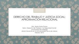 Derecho del trabajo y justicia social