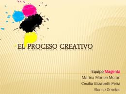 EL PROCESO CREATIVO - Gustavo Adolfo Carrascal Córdoba