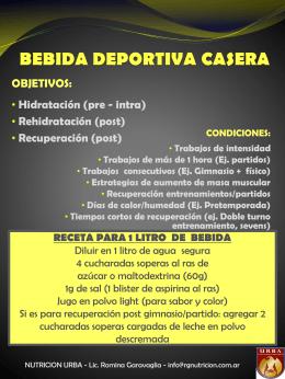 BEBIDAS DEPORTIVAS CASERAS