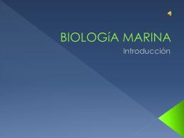 BIOLOGíA MARINA - tecnologiadelainformacion2-univer