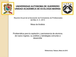 UAG Ecologia Marina