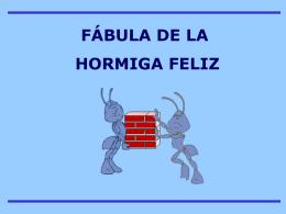 Fábula Hormiga