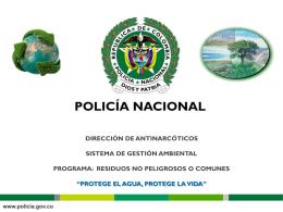 RESIDUOS CONVENCIONALES - Policía Nacional de Colombia