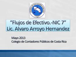 NIC 7 Flujos de Efectivo - Colegio de Contadores Públicos de Costa