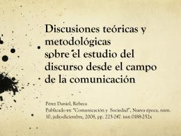 Pérez Daniel - Análisis Crítico del Discurso