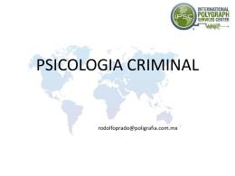 Psicologia Criminal - Entrevista e Interrogatorio