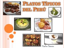 Platos Típicos del Perú.