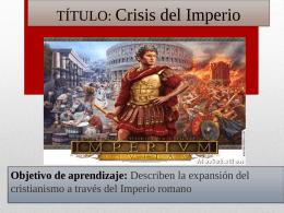 Clase 13, caída del imperio