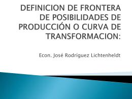 DEFINICION DE FRONTERA DE POSIBILIDADES