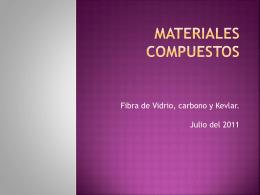 Materiales Compuestos - ingeniería ciclo básico