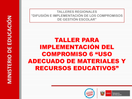 PPT guion Compromiso 6 Uso materiales