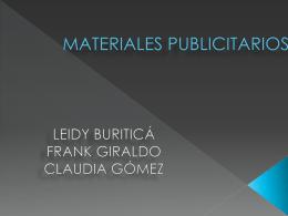 LOS MATERIALES PUBLICITARIOS