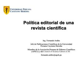 2 Política Editorial de la Revista