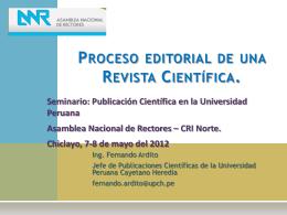 Proceso Editorial de un Revista Científica