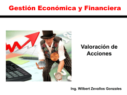 Clase 17 Valoración de acciones