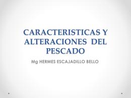 CARACTERISTICAS Y ALTERACIONES DEL PESCADO (441