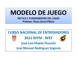 MODELO DE JUEGO Mejias – Segovia