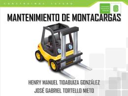 EXPOSICIÓN_ MANTENIMIENTO DE MONTACARGAS