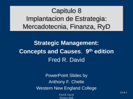 Strategic Management Concepts & Cases Eighth Edition Fred R