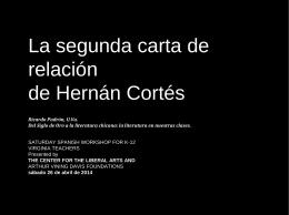La segunda carta de relación de Hernán Cortés