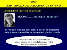 2. EL CONOCIMIENTO CIENTÍFICO