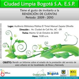 Diapositiva 1 - Ciudad Limpia
