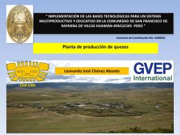 GVEP Planta de quesos, Leonardo Chevez - CER-UNI