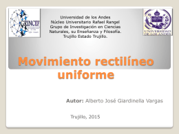 Webquest.Movimiento rectilineo uniforme.