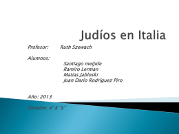 Judíos en Italia
