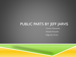 Public Parts by jeff Jarvis