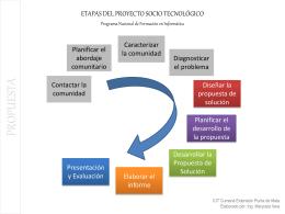 etapas del proyecto socio tecnologico