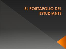 EL PORTAFOLIO DEL ESTUDIANTE